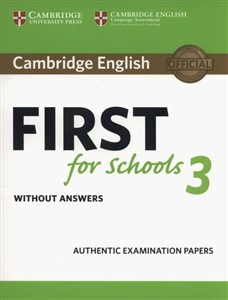 Picture of Cambridge English First for Schools 3 Student's Book without Answers