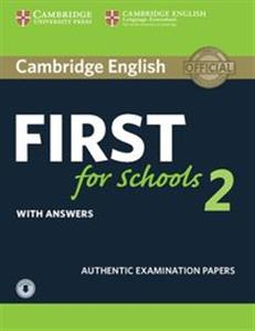 Picture of Cambridge English First for Schools 2 Student's Book with answers and Audio