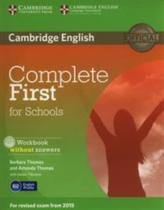 Obrazek Complete First for Schools Workbook without Answers + CD