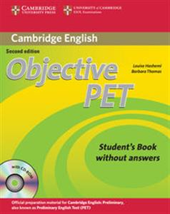 Obrazek Objective PET Student's Book without Answers + CD